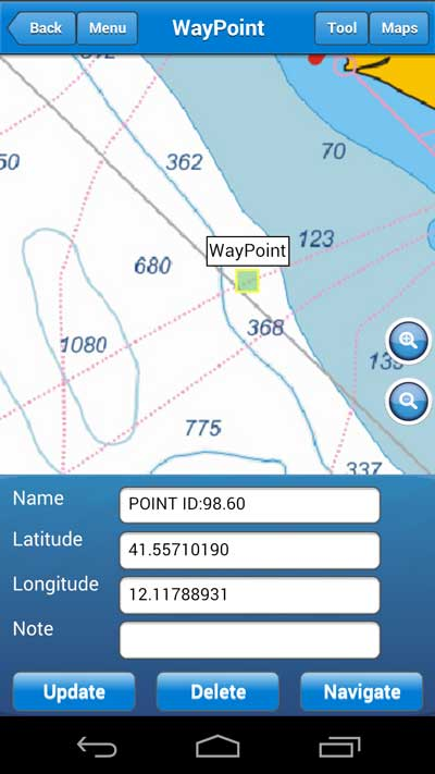 User Manual  add waypoints